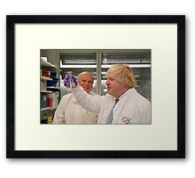 Boris Johnson with chief scientist Tony Ford Framed Print