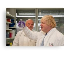 Boris Johnson with chief scientist Tony Ford Canvas Print