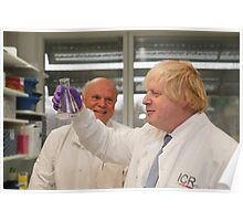 Boris Johnson with chief scientist Tony Ford Poster