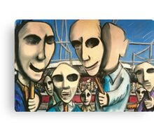Public Faces Canvas Print