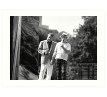 Jackie Gleason and Bob Hope. Central Park 1970's Art Print