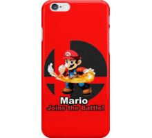 Mario Joins the Battle! iPhone Case/Skin