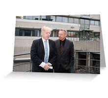 Boris Johnson with Professor Paul Workman Greeting Card