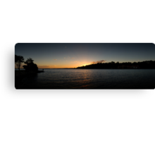 Sunset over Kings Park - full pano Canvas Print