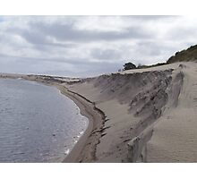 rippled sand dune - I love the angles and rippled shadows Photographic Print