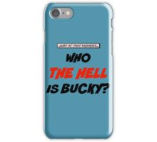 Who The Hell Is Bucky - Comic Style iPhone Case/Skin