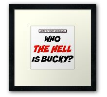 Who The Hell Is Bucky - Comic Style Framed Print