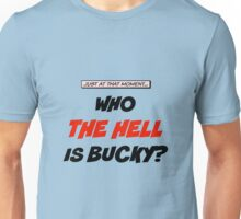 Who The Hell Is Bucky - Comic Style Unisex T-Shirt