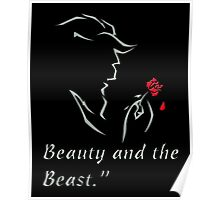 The Beauty and The Beast Disney - The Beast and The Rose Poster