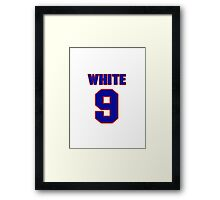 National baseball player Barney White jersey 9 Framed Print
