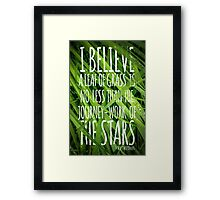 Walt Whitman Quote Poster With Grass Framed Print
