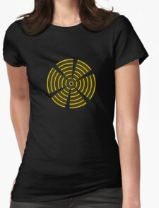 Mandala 32 Yellow Fever  Womens Fitted T-Shirt