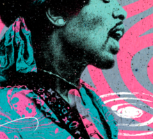 Jimi Hendrix - Psychedelic Sixties by Pepe Psyche Sticker