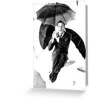 Singing in the rain Gene Kelly Greeting Card