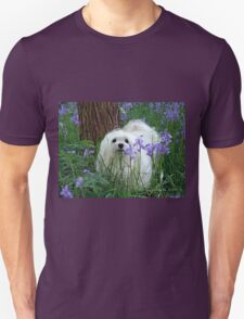 Snowdrop the Maltese -  in the Bluebell Woods T-Shirt