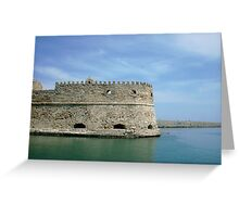 Crete Fort Greeting Card