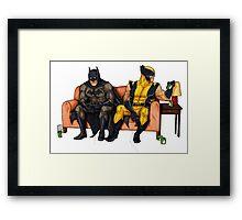 Batman and wolverine Framed Print