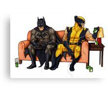 Batman and wolverine Canvas Print