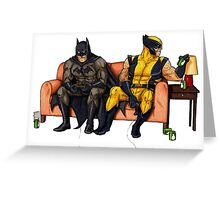 Batman and wolverine Greeting Card