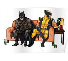 Batman and wolverine Poster
