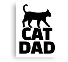 Cat dad Canvas Print