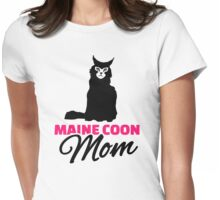 Maine coon cat mom Womens Fitted T-Shirt