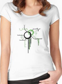 LIGHTSPEED STATION (The Future of Travel) Women's Fitted Scoop T-Shirt