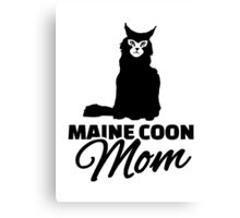 Maine coon cat mom Canvas Print