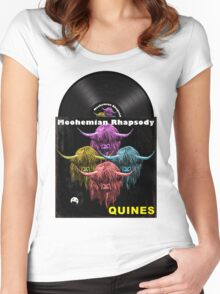 Highland Cows. Moohemian Rhapsody Women's Fitted Scoop T-Shirt