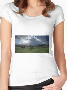 Castlerigg Stone Circle, Cumbria, England Women's Fitted Scoop T-Shirt