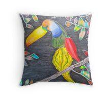 Toucan Gourd Throw Pillow