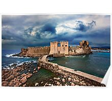 The castle of Methoni - Greece Poster