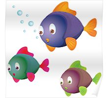 Colorful fishes Poster