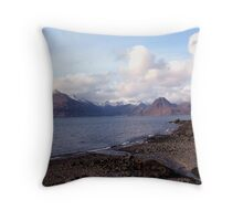 The Cuillins from Elgol, Isle of Skye Throw Pillow