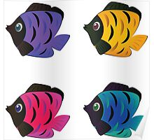 Colorful fishes 2 Poster