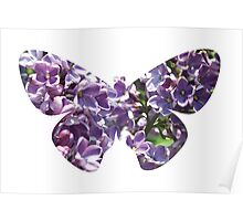 Flying lilac tree Poster