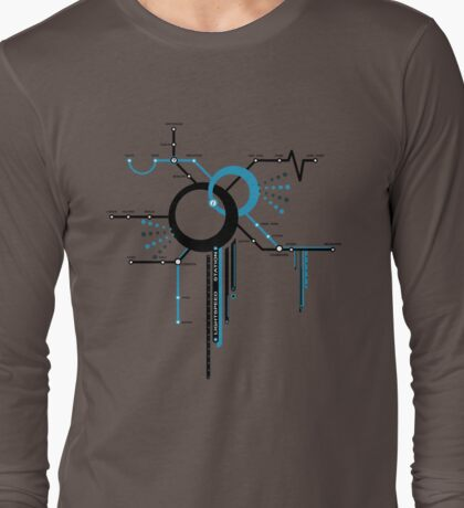 LIGHTSPEED STATION (The Future of Travel) - blue T-Shirt