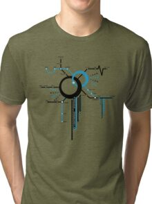 LIGHTSPEED STATION (The Future of Travel) - blue Tri-blend T-Shirt