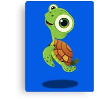 "Bubble Heroes - Stu the Turtle ""Cheer"" Edition Canvas Print"