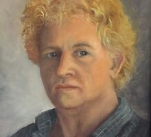 Self Portrait-A Study of the Self by Randy  Burns