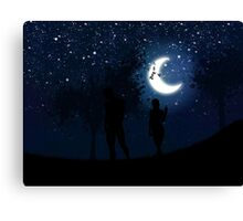 Walking at night Canvas Print