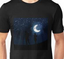 Walking at night Unisex T-Shirt