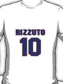 NBBS3444 National baseball player Phil Rizzuto jersey 10 T-Shirt