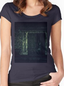 Cemetery Crypt Women's Fitted Scoop T-Shirt