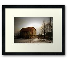 Quiet Barn Framed Print