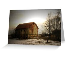 Quiet Barn Greeting Card