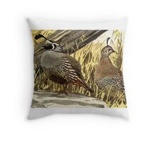 Quail or Grouse Throw Pillow