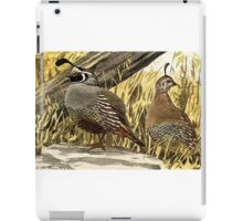 Quail or Grouse iPad Case/Skin