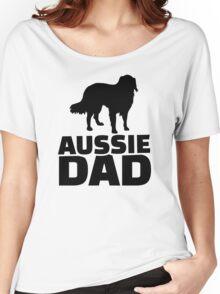 Aussie Australian shepherd Dad Women's Relaxed Fit T-Shirt