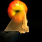 Stabbed apple by Andrea Austin